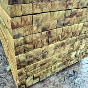 3x3 Incised Tanalised Fence Posts